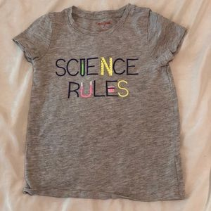 Girls Science Rules T Shirt 5T